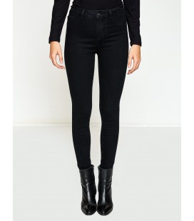Koton Kadın Pantolon Dar Kesim Pantolon - Siyah 8KAK47951DDBA5