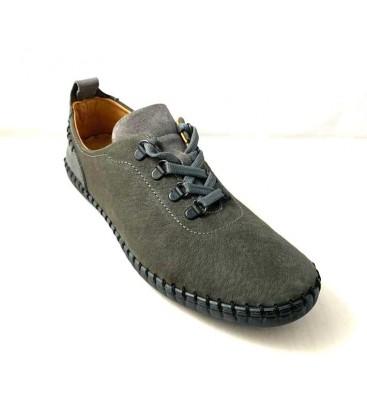 İnci Erkek Ayakkabı 3408 Antrasit Deri Nubuk Ayakkabı