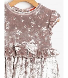Koton Kız Çocuk Elbise Desenli Elbise - Altın Rengi 9KMG89902ZK954