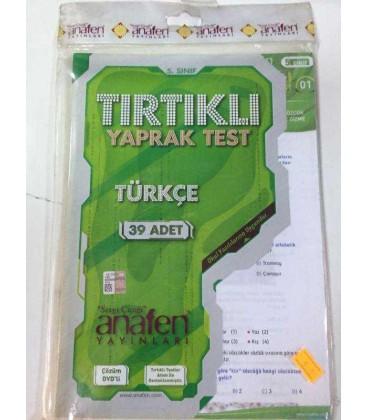 5. Sınıf Türkçe Tırtıklı Yaprak Test - Anafen Yayınları