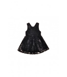 B&G Store Kız Çocuk Siyah Elbise 3838ROF4904