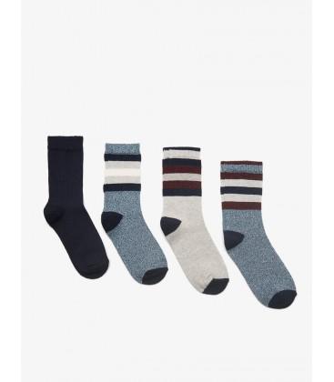 Koton Erkek Çocuk 4'lü Çorap Lacivert Mavi 8KBB82263AA616