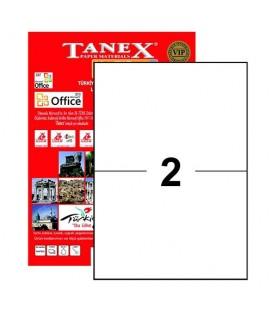 Tanex Tw-2102 Yazıcı Etiketi 210 x 148.5 mm 200 Adet - Beyaz