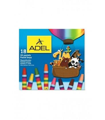 Adel Karton Kutu Pastel Boya 18 Renk 4280857000