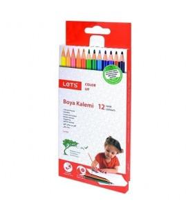 Lets Kuru Boya 12 Renk Tam Boy  L-4120
