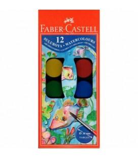 Faber Castell Sulu Boya Büyük Boy 12 Renk 5292 125012