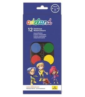 Adeland Suluboya 12 Renk Büyük Boy 30mm - 2290932100