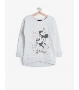 Koton Minnie Kız Çocuk Sweatshirt  Gri 6KKG19474TK023