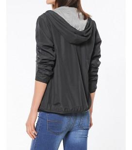 Mavi Mont 11966900 Kapişonlu Kadın Ceket Siyah Regular Fit