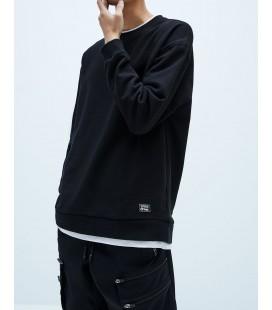 Zara Erkek Sweatshirt Siyah 4087/408/800