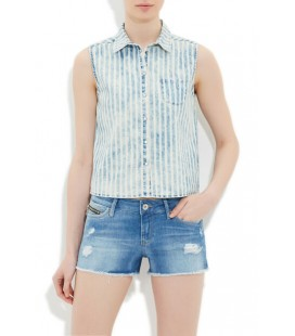 Mavi Kadın Kolsuz Gömlek 121015-10242