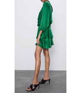 Zara Kadın Saten Mini Elbise 2363/762/500