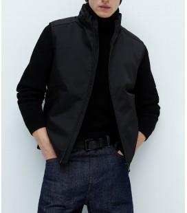 Zara Erkek Fermuarlı Siyah Şişme Yelek 6719/410