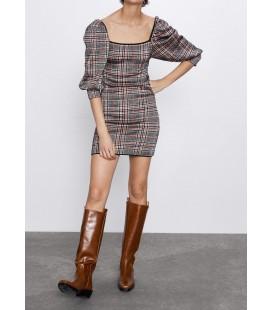 Zara Kadın Kareli Triko Elbise 1822/004/800