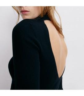 Zara Sırt Dekolteli Kadın Kazak Siyah 3471/006/800