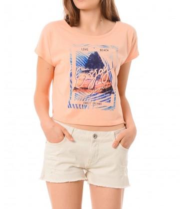 Mavi Baskılı Kadın Tişört 165642-21051 Baskılı Penye