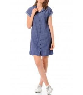 Mavi Kadın Gömlek Elbise 130329-18790 Kısa Kollu Elbise İndigo