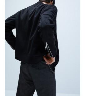 Zara Suni Süet Erkek Ceket Siyah 8281/457/800