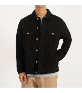 Bershka Erkek Regular Fit Denim Siyah Ceket 1273/503/800