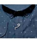 U.S. Polo Erkek Gömlek G081SZ004.000.849503 Lacivert Demiratma Dokuma