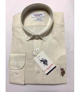 U.S. Polo Erkek Gömlek G081SZ004.000.849503 Krem