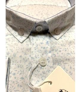 U.S. Polo Erkek Gömlek G081SZ004.000.849503 Desenli Buz Mavisi
