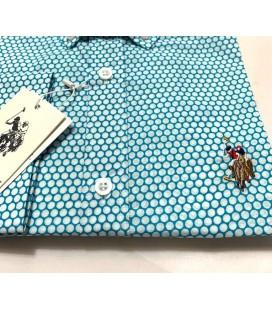 U.S. Polo Erkek Gömlek G081SZ004.000.849503 Halka Desenli