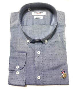 U.S. Polo Erkek Gömlek G081SZ004.000.849503 Nokta Desenli