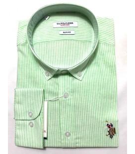 U.S. Polo Erkek Gömlek G081SZ004.000.849503 Çizgili Gömlek