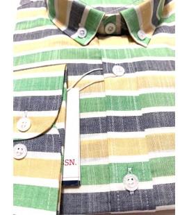 U.S. Polo Erkek Gömlek G081SZ004.000.849503 Sarı Yeşil Gömlek