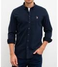 U.S. Polo Erkek Gömlek G081SZ004.000.849503 Lacivert Gömlek