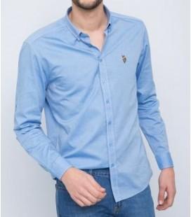 U.S. Polo Erkek Gömlek G081SZ004.000.849503 Mavi Gömlek