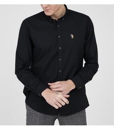U.S. Polo Erkek Gömlek G081SZ004.000.849503 Siyah Gömlek