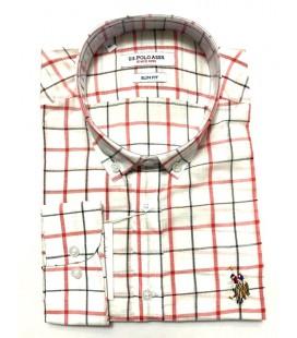 U.S. Polo Erkek Gömlek G081SZ004.000.849503 Kırmızı Kareli Gömlek