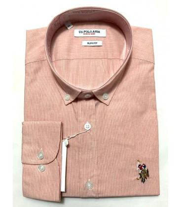 U.S. Polo Erkek Gömlek G081SZ004.000.849503 Turuncu Gömlek