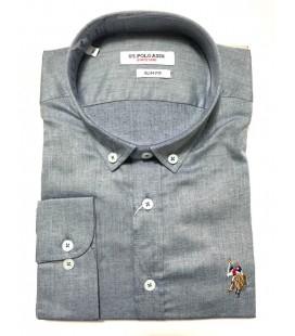 U.S. Polo Erkek Gömlek G081SZ004.000.849503 Gri Gömlek