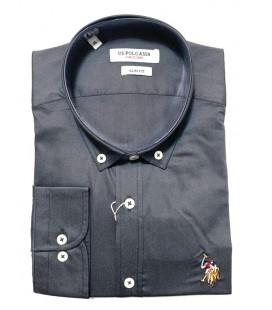 U.S. Polo Erkek Gömlek G081SZ004.000.849503 Füme Gömlek