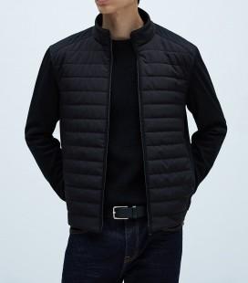 Zara Uyumlu Yan Panelli Erkek Siyah Şişme Mont 8574/400