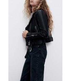 Zara Kadın Siyah Suni Deri Ceket 3427/201