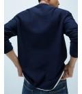 Zara Kontrast Dokulu Erkek Swaetshirt 4087/402/401