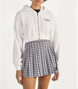 Bershka Beyaz Kapüşonlu Kadın Ceket 1451/296/250