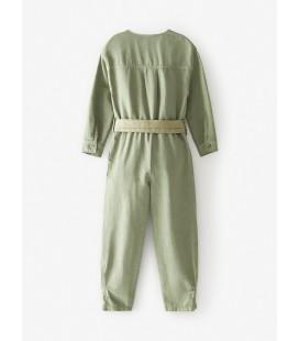 Zara Kız Çocuk Kumaş Boyalı Wolker Tulum Haki 1149/376