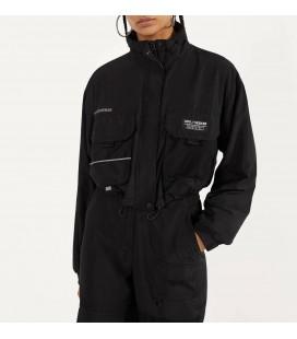 Bershka Siyah Reflektör Kadın Ceket 1240/551/800