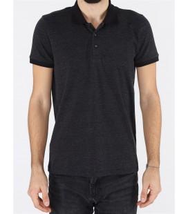 Twister Erkek Polo Yaka Siyah Tişört 19SE07000301