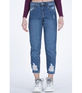 Quzu Kadın Kot Pantolon 20K72122 Mavi