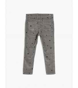 Koton Kız Çocuk Desenli Pantolon Gri 0KKG47850OW04F