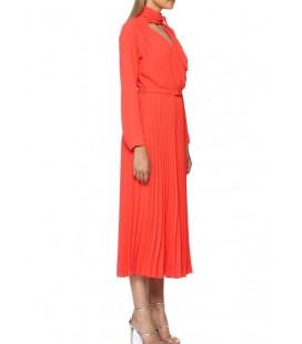 Network Midi Boy Kırmızı Kadın Elbise 1070808-270