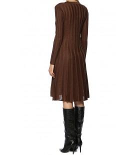 NetWork Midi Boy Kahverengi Triko Kadın Elbise 1070700