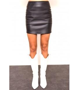 BSL Suni Deri Mini Etek Siyah 14261