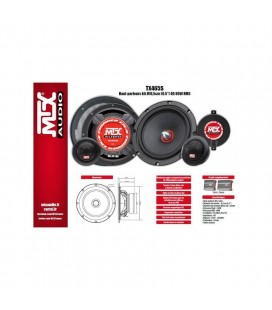 Mtx TX465S Tx4 Serisi 16.5 Cm Komponent Hoparlör 80 Watt Rms